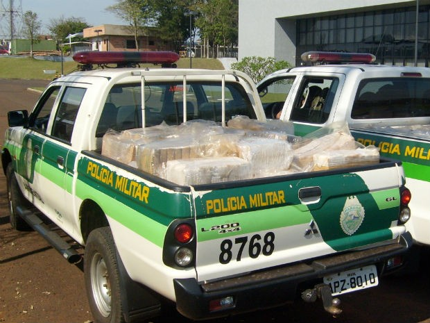 Droga foi encaminhada para a Pol&#237;cia Federal (Foto: Divulga&#231;&#227;o Pol&#237;cia Militar Ambiental)