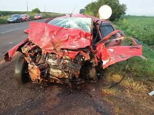 Seis pessoas morreram em colisão frontal (Foto: PRF/Divulgação)