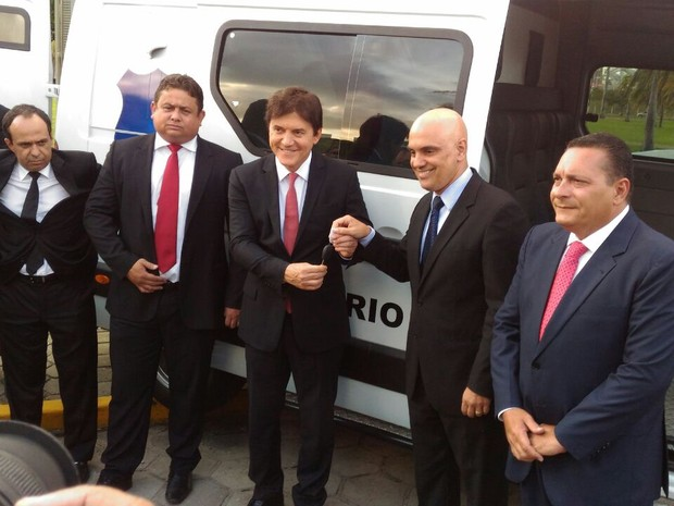 Ministro da Justiça Alexandre de Moraes apresentou Plano Nacional de Segurança em Natal (Foto: Fernanda Zauli/G1)