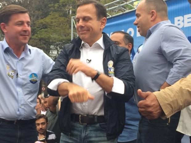 João Doria participa de campanha de Orlando Morando (PSDB) em São Bernardo do Campo, no ABC paulista (Foto: Roney Domingos/G1)