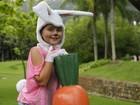 Feliz Páscoa! Jesuela Moro encarna uma coelhinha fofa!