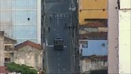 Operação da policia militar e prefeitura na região da Central do Brasil