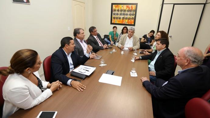 Reunião definiu os últimos ajustes do patrocínio do Parazão (Foto: Cristino Martins/Agência Pará)