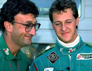 Michael Schumacher com Eddie Jordan em 1991 (Foto: Divulgação)