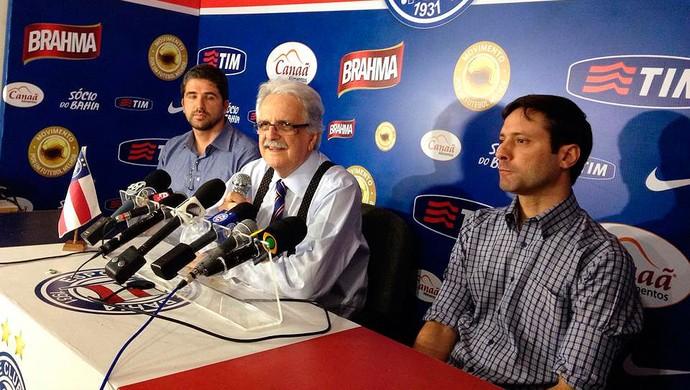 Rodrigo Pastana, Fernando Schmidt, Marcos Vinicius Lima; Bahia (Foto: Divulgação/EC Bahia)