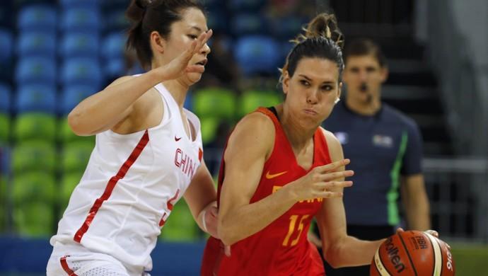 Anna Cruz Espanha basquete (Foto: REUTERS/Sergio Moraes)