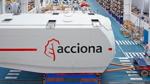 A empresa de energia Acciona tem fábricas de turbinas de energia eólica na Espanha, EUA e Brasil (Foto: Divulgação)