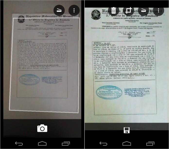 Digitalizando um documento (Foto: Reprodução/Helito Bijora)