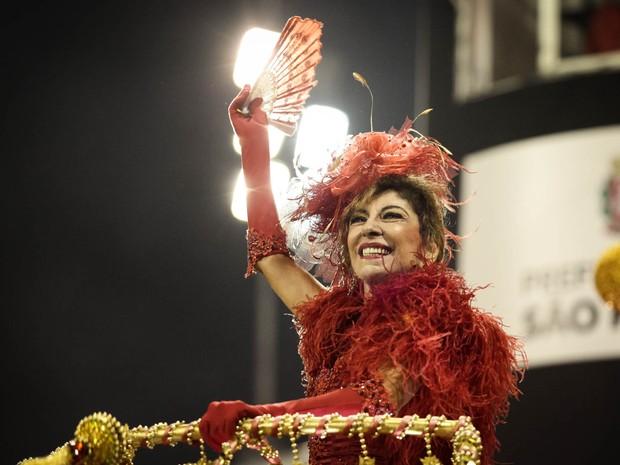 Marília Pêra é a homenageada da Mocidade Alegre (Foto: Caio Kenji/G1)