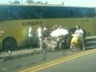Acidente entre carro e ônibus deixa um morto na BR-101 em Iconha, ES