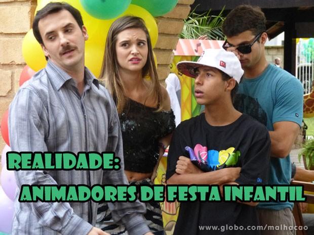 KKKKKKKKKKKKKKK Acho que a Fat não curtiu mto não... (Foto: Malhação / Tv Globo)