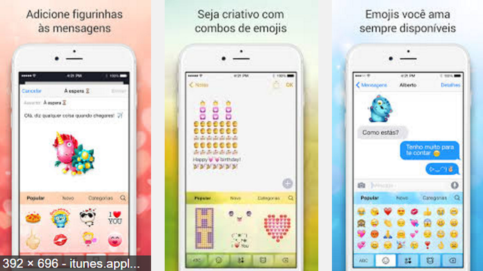 Teclado Emoji para mim oferece muitas opções de emojis (Foto: Divulgação/Emoji para mim)
