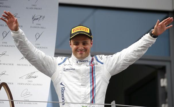 Felipe Massa comemorou seu primeiro pódio em 2015 (Foto: Reuters/reprodução Globoesporte.com)