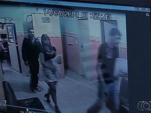 Após o sequestro, Tatylla foi levada para Goiânia, Goiás, onde foi morta (Foto: Reprodução/TV Anhanguera)