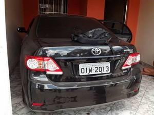 Carro foi roubado do Tribunal de Justiça do Maranhão (Foto: Marcelino Neto)