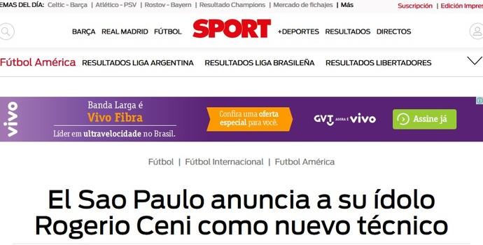 Ceni técnico Sport Espanha (Foto: Reprodução)