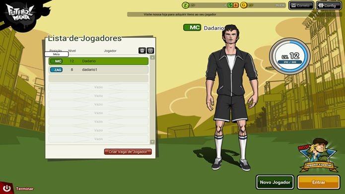Jogo de futebol sem ser online
