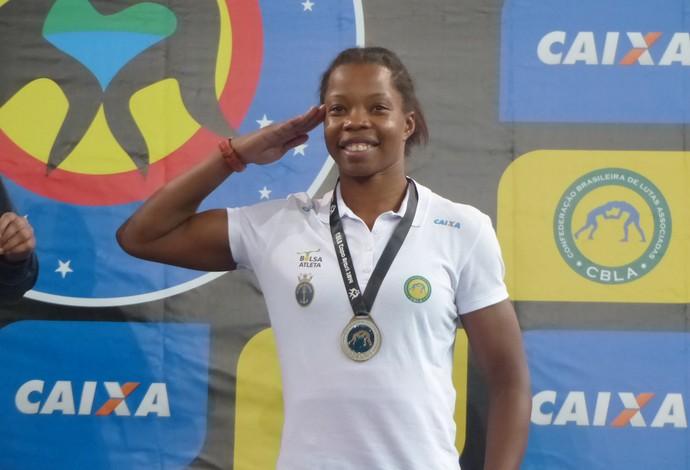 Joice Silva luta olímpica (Foto: Flávio Dilascio)
