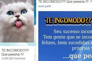 """Comunidade do Orkut """"Te incomodo? Que peeena!"""". (Foto: Reprodução/Orkut.com)"""