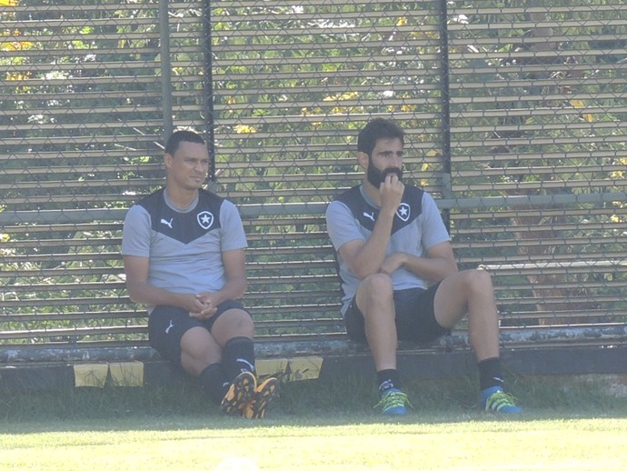 Emerson Silva e Renan Fonseca Botafogo (Foto: Marcelo Baltar / GloboEsporte.com)