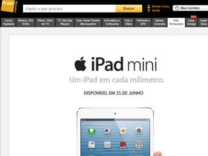 Fnac anunciou iPad mioni para o dia 25 de junho (Foto: Reprodução/Fnac)