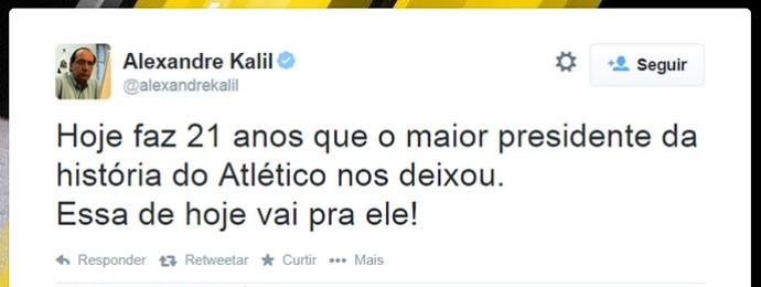 Alexandre Kalil Atlético-MG (Foto: Twitter)