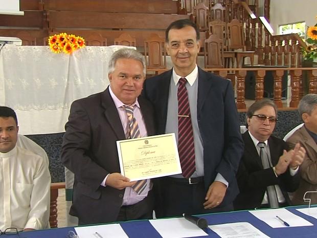 Jailson Alves obteve 8.302 votos, o que corresponde a 56,27% dos votos válidos (Foto: Reprodução/TV Tapajós)