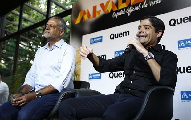 Isaac Edington, presidente da Saltur e Antônio Carlos Magalhães Neto, prefeito de Salvador (Foto: Ricardo Cardoso/ Ed. Globo)