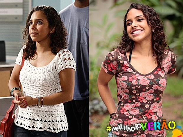 Julia usa peças descoladas, mas que representam sua personalidade cheia de atitude (Foto: Malhação / TV Globo)