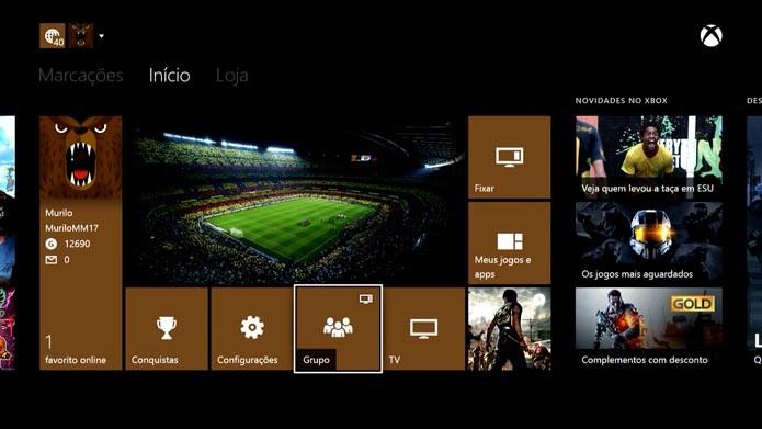 Xbox One: aprenda a usar o aplicativo Grupo (Foto: reprodução/Murilo Molina)