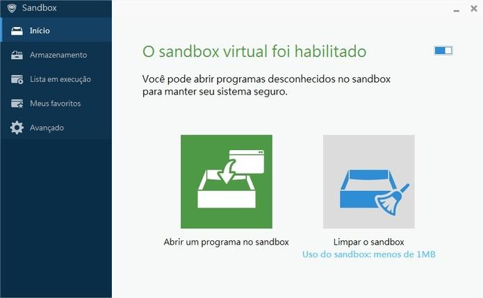 PSafe Sandbox (Foto: Divulgação/PSafe)