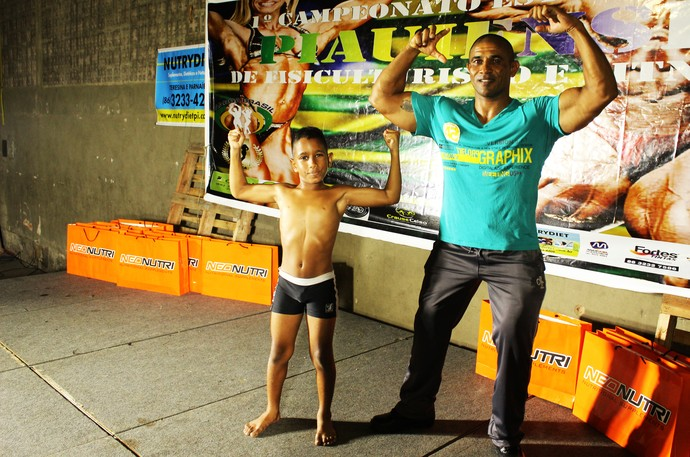 Lucas Wesley no Campeonato Piauiense de Fisiculturismo (Foto: Josiel Martins )