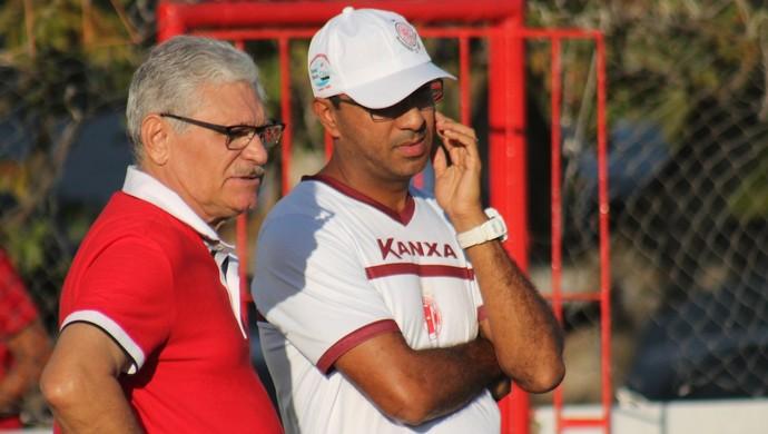 América-RN - Felipe Surian e Maeterlink Rego - técnico e médico (Foto: Canindé Pereira / América FC)