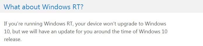 Microsoft dá prazo sobre atualização do Windows RT (Foto: Reprodução/Windows 10 FAQ)