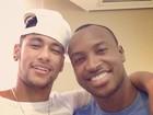 Neymar posta foto e dá força para Thiaguinho: 'Te amo'