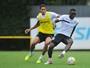 Santos treina com Veríssimo e Longuine para enfrentar Internacional