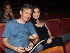 Serginho Groisman curte musical com a mulher grávida e dá palinha