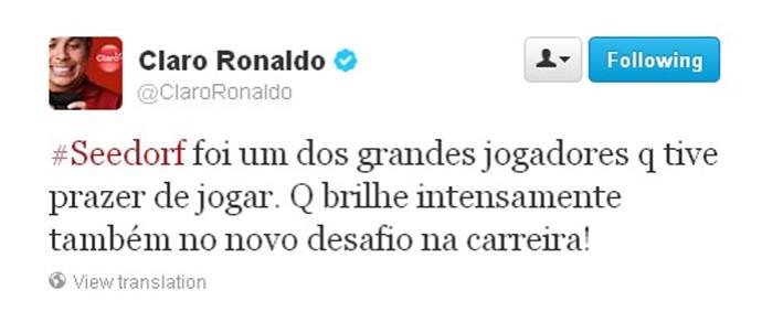 ronaldo seedorf twitter (Foto: Reprodução )