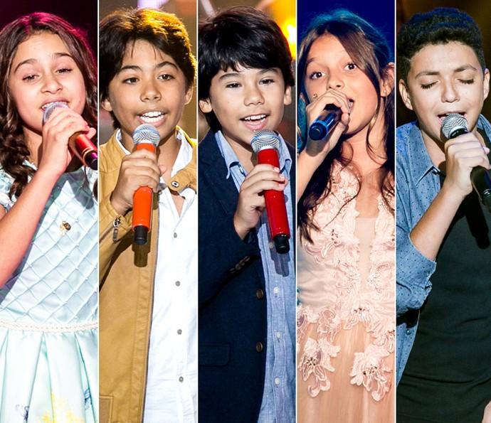 Ana Beatriz Torres, Enzo e Eder, Laura Schadeck e Wagner Barreto são os kids do Time Victor & Leo (Foto: Isabella Pinheiro/Gshow)