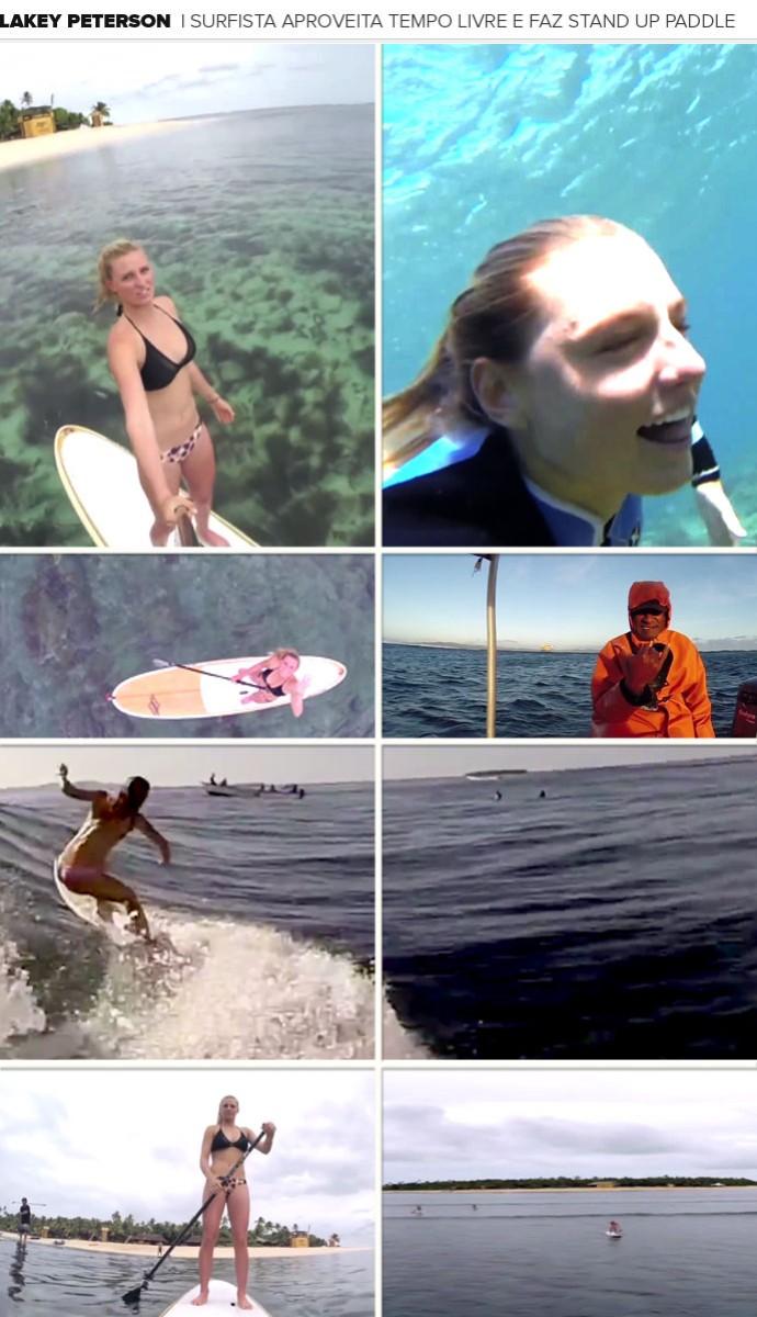 Mosaico - surfe Laker Peterson (Foto: Arte esporte)
