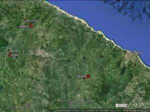 Paramoti é atingida duas vezes por tremor no mesmo dia do ano (Foto: Sismos do Nordeste/Divulgação)