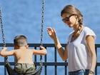 Domingo no parque: Gisele Bündchen se diverte em programa família