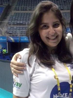 Paula durante evento-teste no Maracanãzinho (Foto: Arquivo Pessoal)