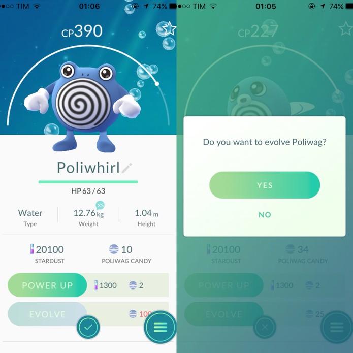 Como saber o momento certo de evoluir em Pokémon Go (Foto: Reprodução/Felipe Vinha)