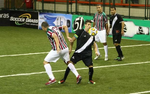 Vasco, de Pedrinho, vence o Fluminense no Brasileiro de showbol (Foto: Ricardo Cassiano/Divulgação)