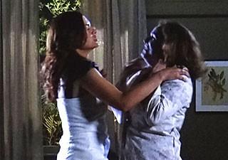 Amparo e Solange (Foto: Amor Eterno Amor/TV Globo)