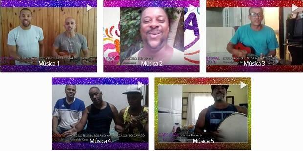Cinco canções foram escolhidas por comissão julgadora do RJ Inter TV 1ª Edição (Foto: Reprodução / Inter TV)