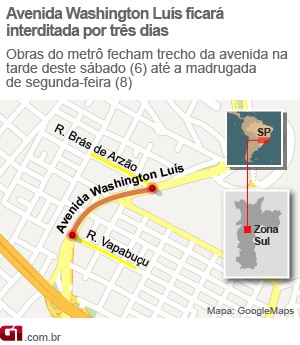 mapa da interdição (Foto: Editoria de arte/G1)