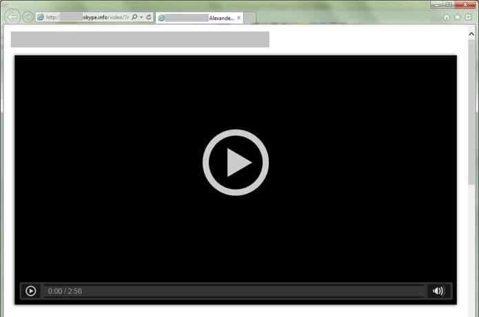 Página falsa que abriga trojan exibe falso vídeo (Foto: Reprodução/Secure List)