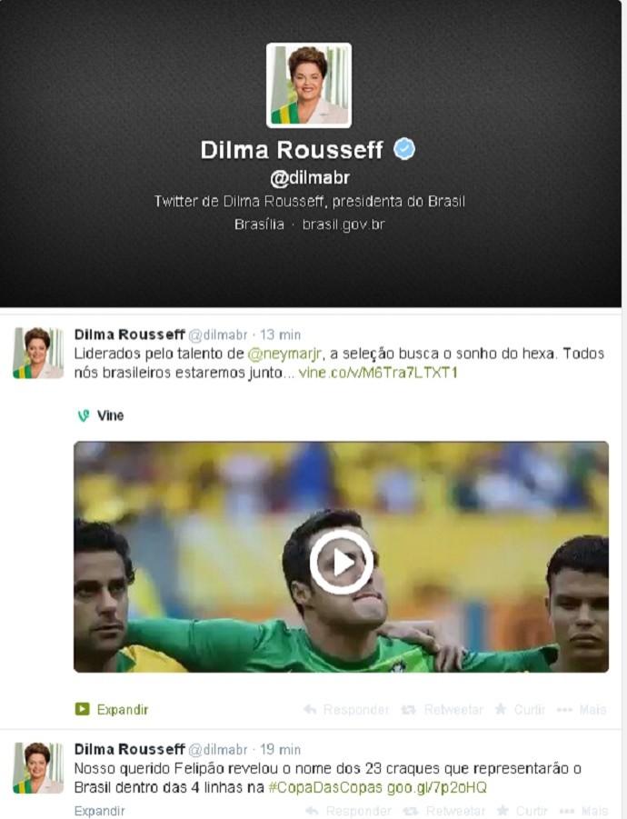 Dilma Twitter Convocação (Foto: Reprodução/Twitter)